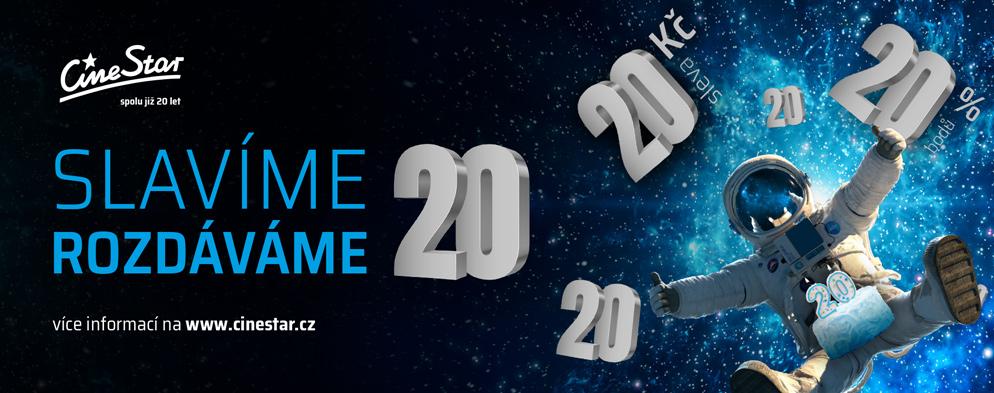 CineStar letos slaví 20. narozeniny a dárky budeme rozdávat vám – po celé  prázdniny!