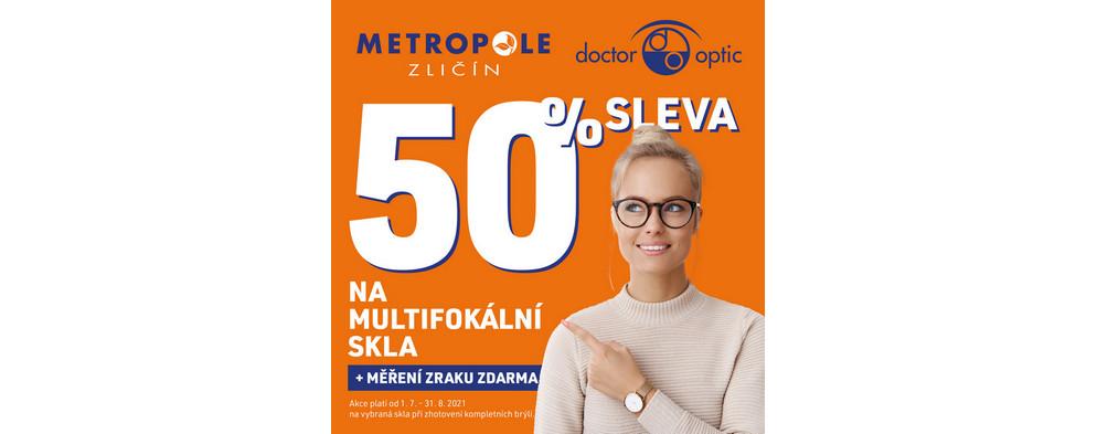 50% sleva na multifokální skla