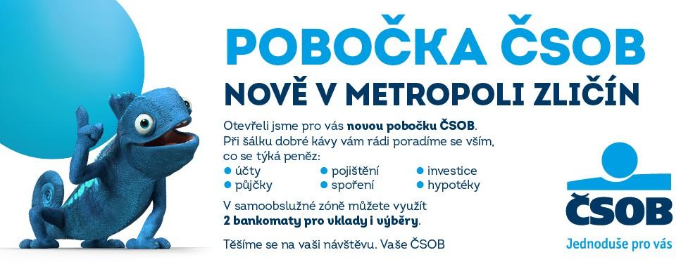 Pobočka ČSOB nově v Metropoli Zličín
