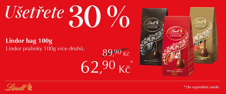 Ušetřete 30% při nákupu Lindor pralinek