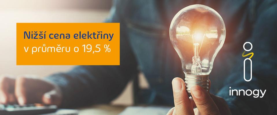 Nižší cena elektřiny