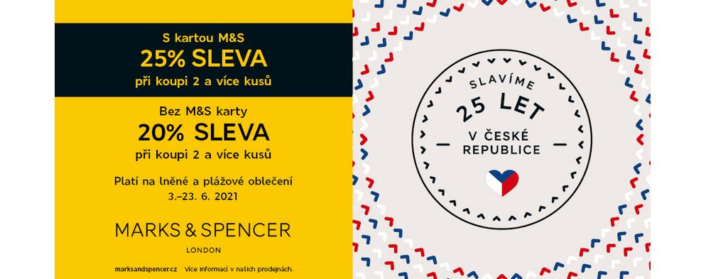 S kartou M&S 25% SLEVA