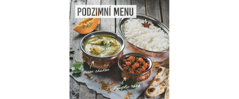 Bombay Express podzimní menu