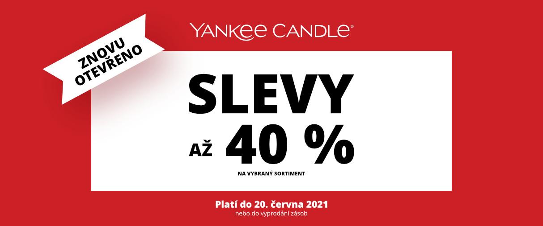 Slevy až - 40% v Yankee Candle