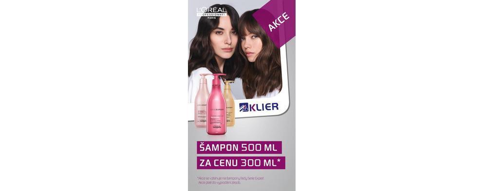 Akce LP šampon Serie Expert 500 ml za cenu 300 ml