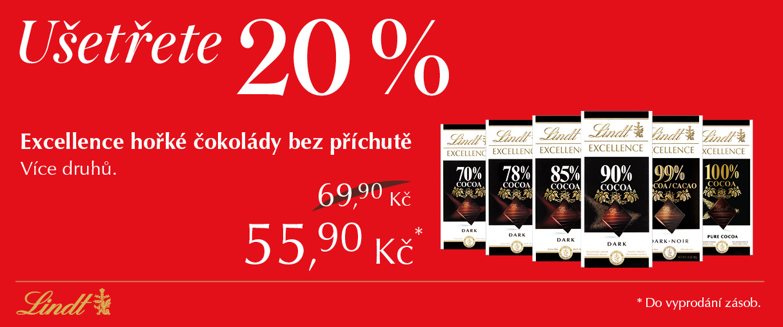 Sleva 20% na hořké čokolády Excellence