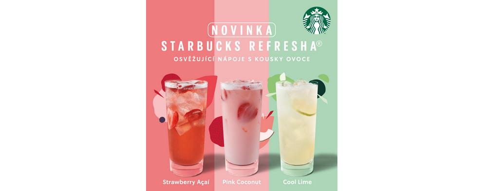 Osvěžte se mezi nákupy s Starbucks Refresha