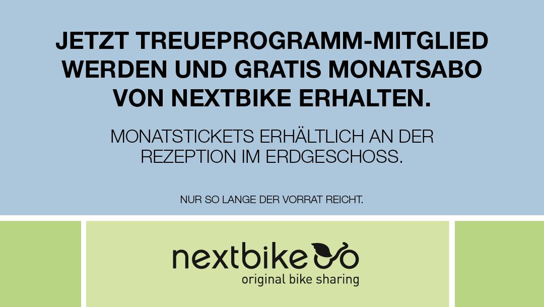 Hol dir dein gratis nextbike Monatsabo