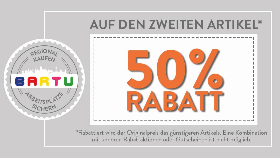 50% Rabatt bei Bartu