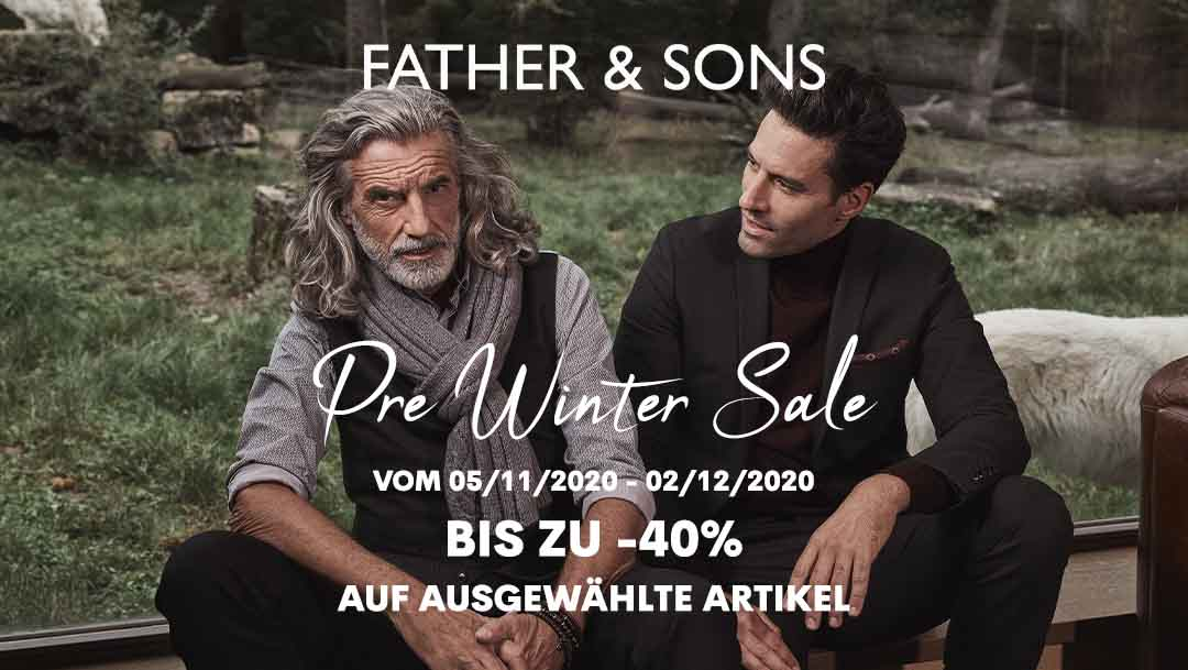 Pre Winter Sale bei Father & Sons