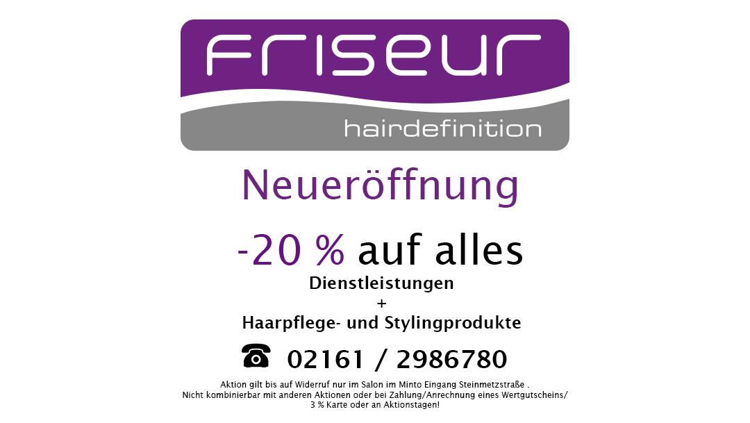 Eröffnungsangebot Hairdefinition