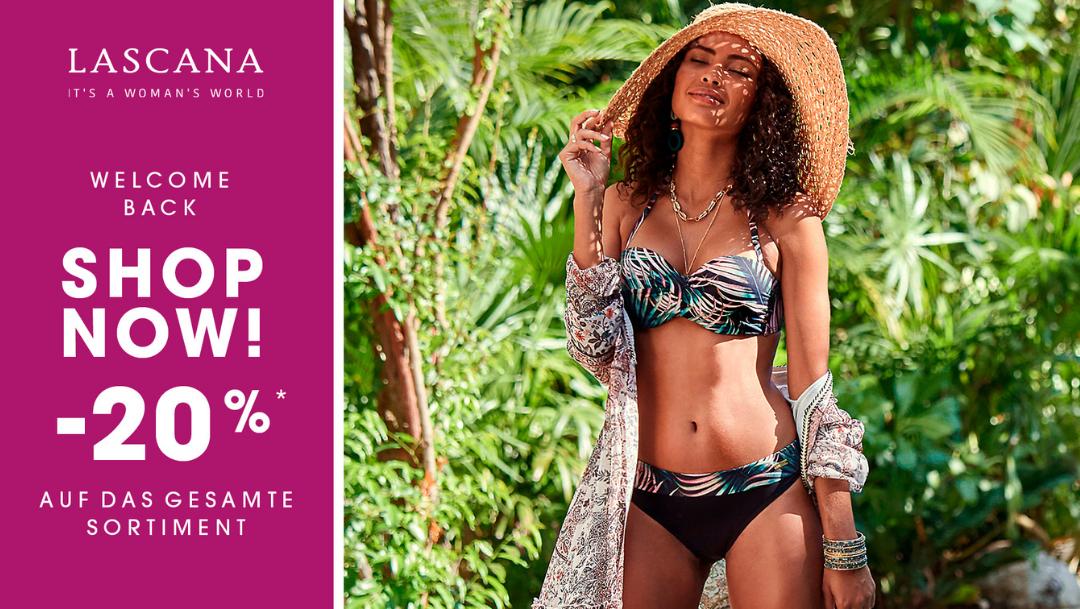 WELCOME BACK mit 20%* auf alles bei LASCANA!
