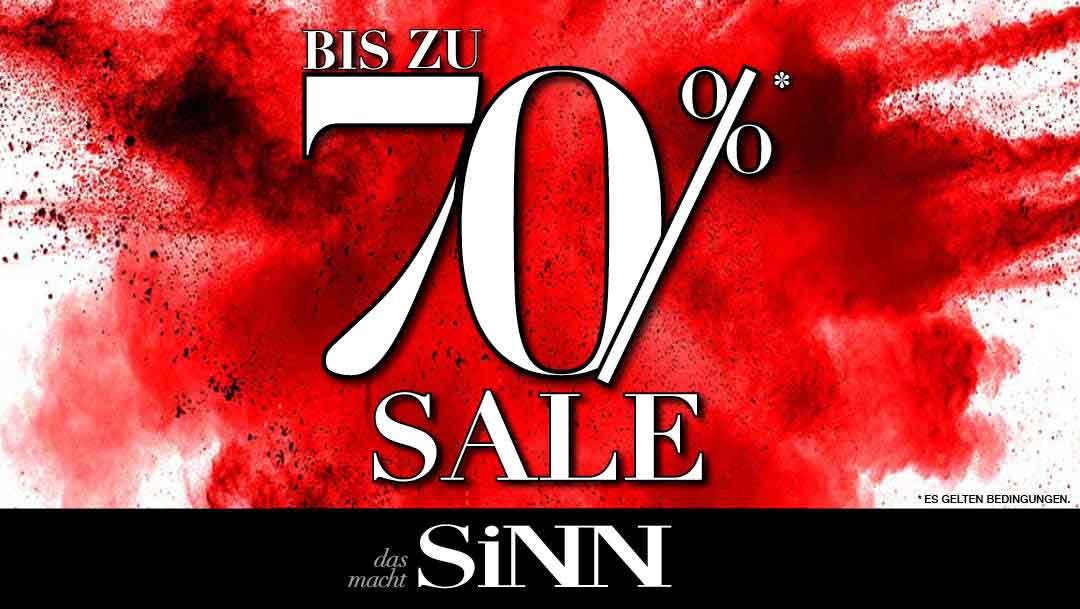 70% Rabatt bei SINN