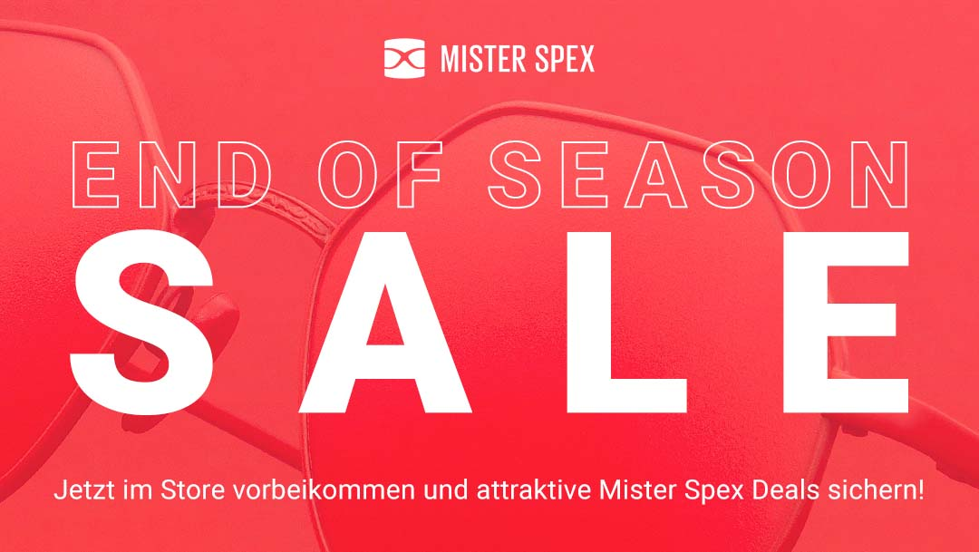 End of Season Sale bei Mister Spex