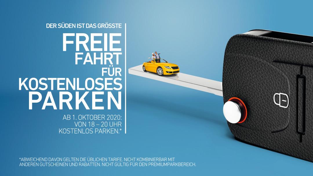 Kostenlos Parken ab 1. Oktober