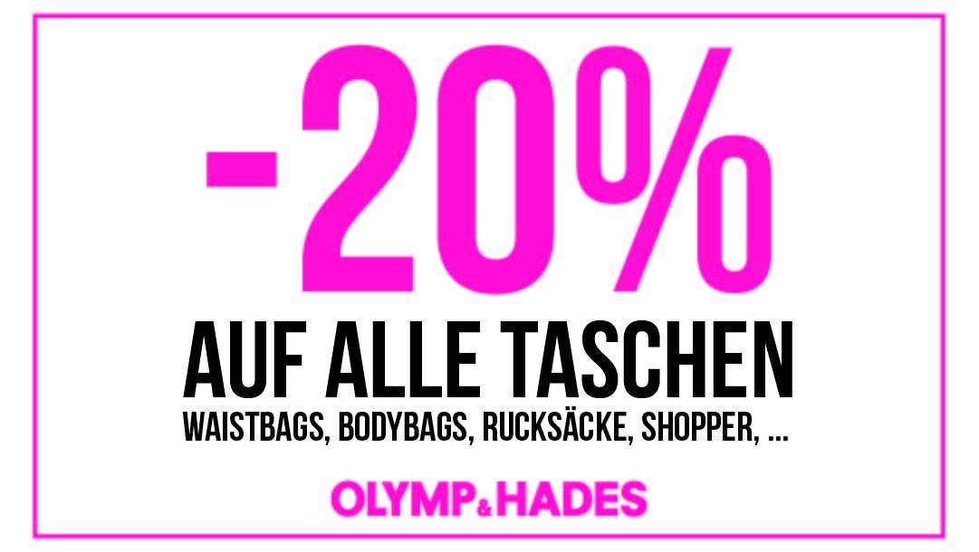 Olymp & Hades: 20% auf Taschen