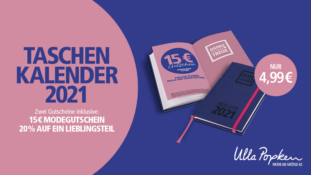 Ulla Popken Taschenkalender 2021