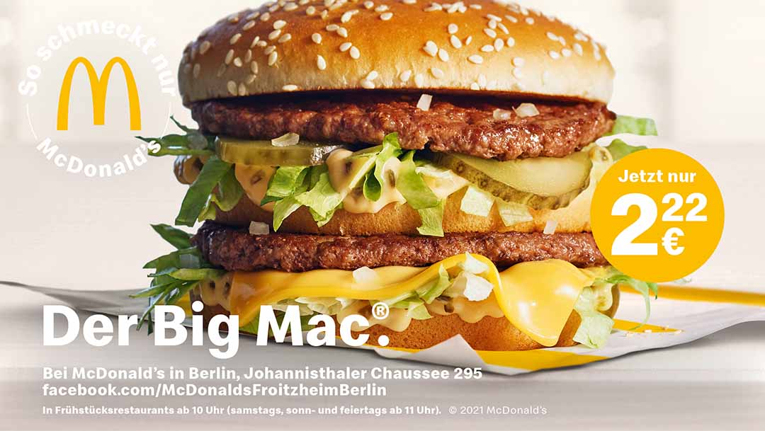 Der Big Mac - jetzt für nur 2,22€