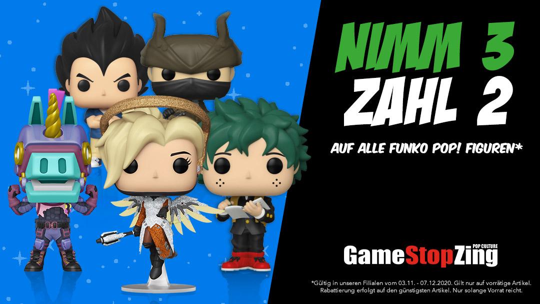 Funko Pop! Figuren: 3 für 2