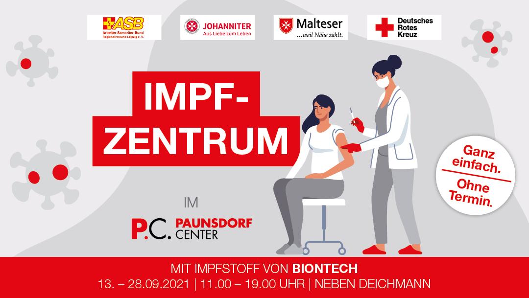 Mobiles Impfzentrum im Paunsdorf Center