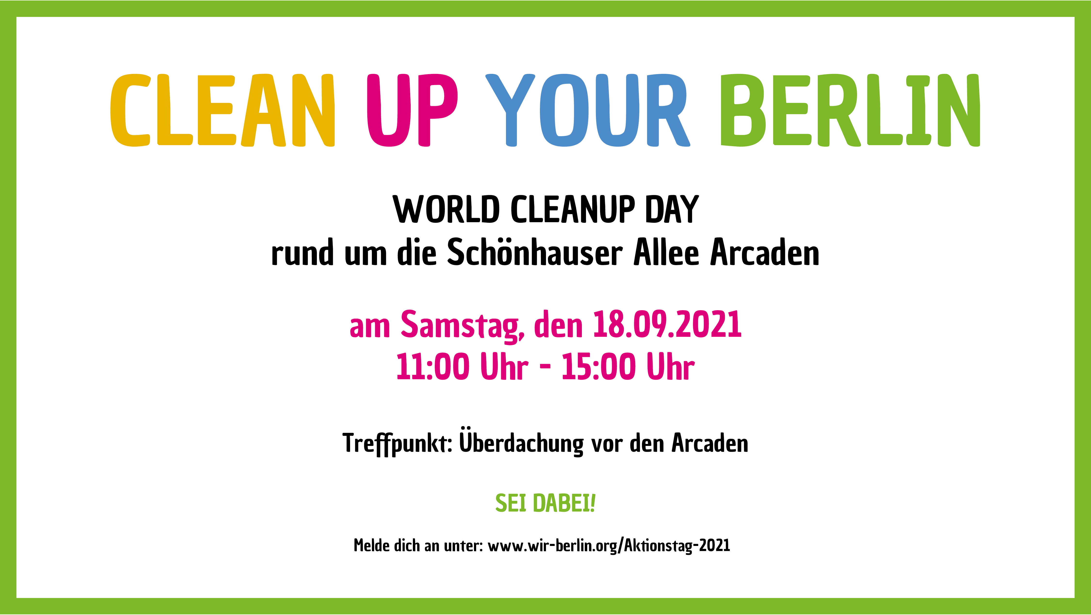 CLEAN UP YOU BERLIN