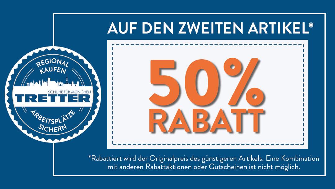 50% Rabatt bei Tretter