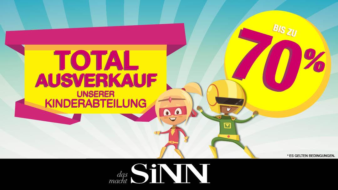 SiNN: Ausverkauf Kinderabteilung