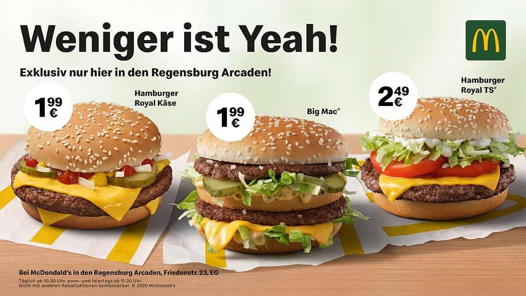 Angebote bei McDonald's