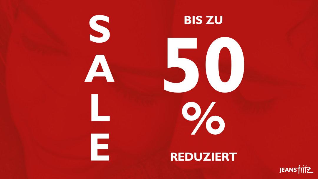 Sale bei Jeans Fritz!