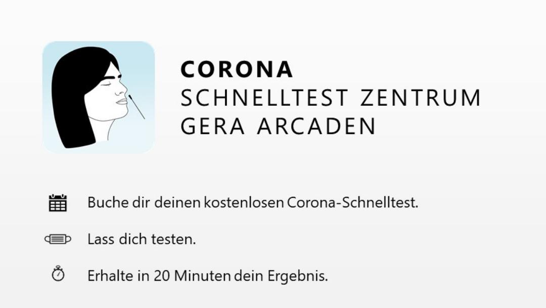 Corona Schnelltestzentrum Gera Arcaden