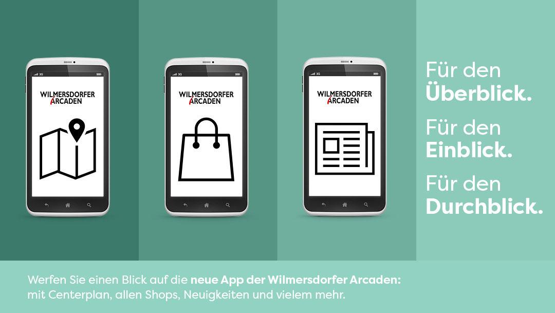 Die Wilmersdorfer Arcaden gibt's jetzt auch als App!