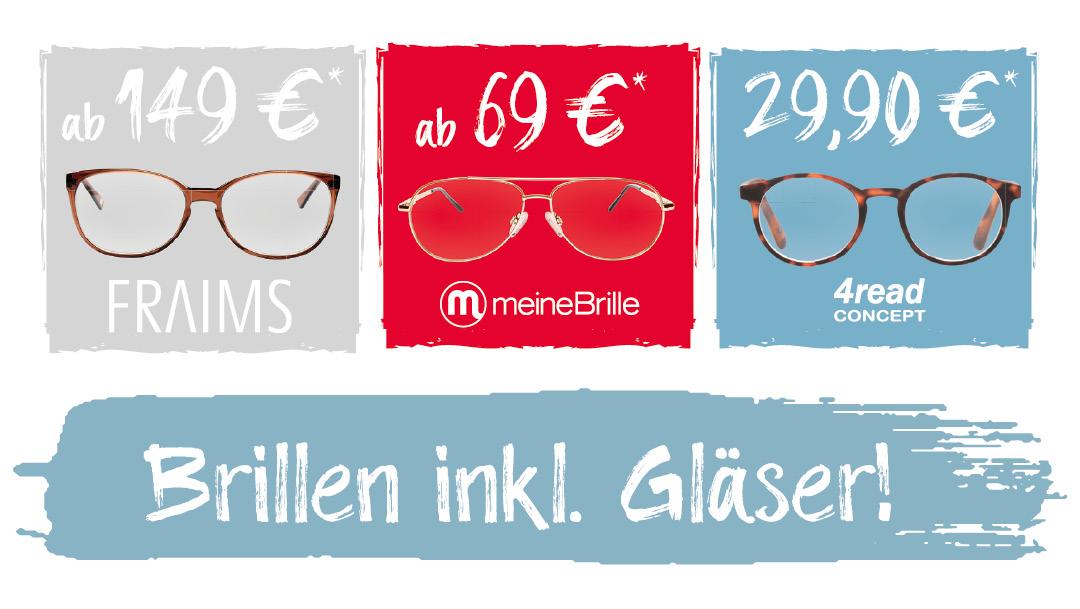 Modische Brillen zum Komplettpreis!