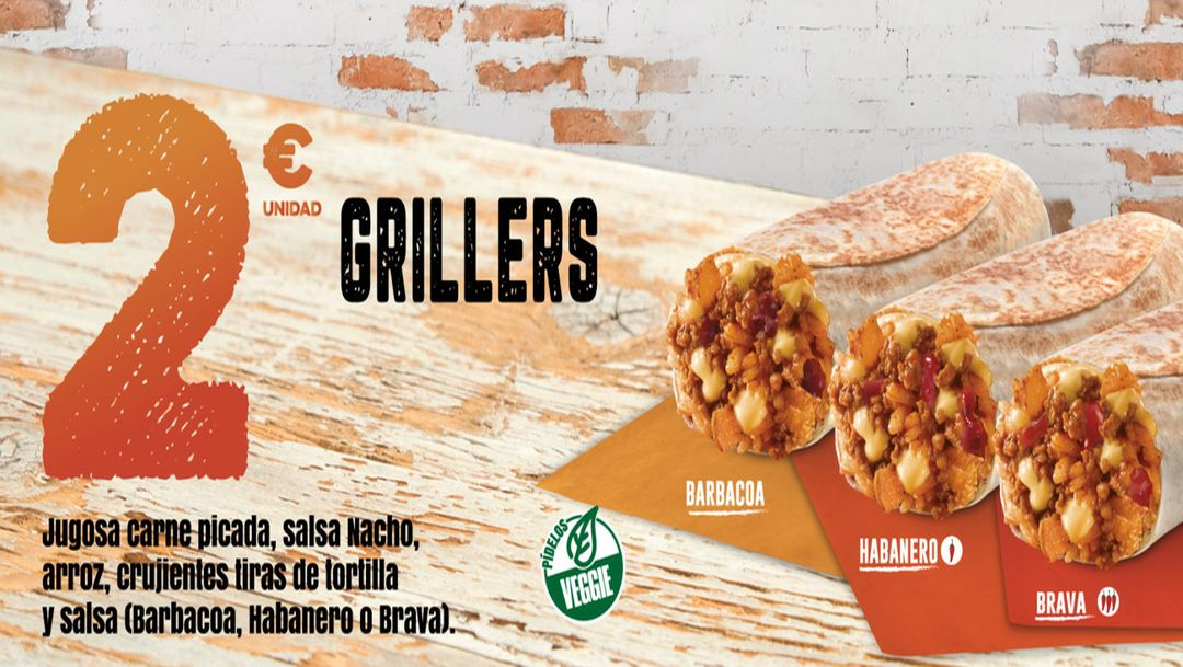GRILLERS 2€ EN TACO BELL