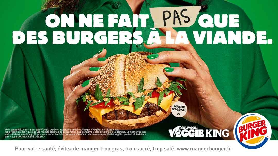 Découvrez le VEGGIE KING chez Burger King !
