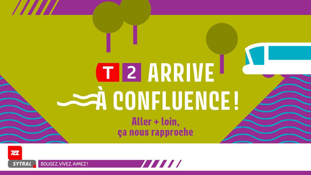 La ligne de tramT2 est prolongée jusqu'à Confluence !
