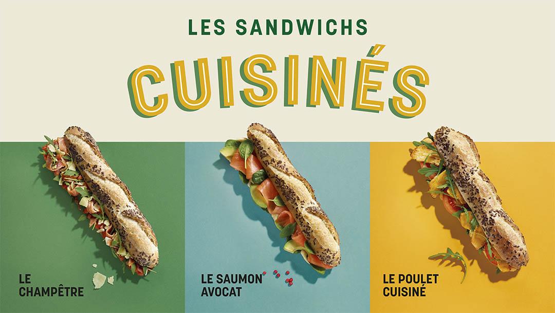 Les 3 Sandwichs Cuisinés de La Brioche Dorée