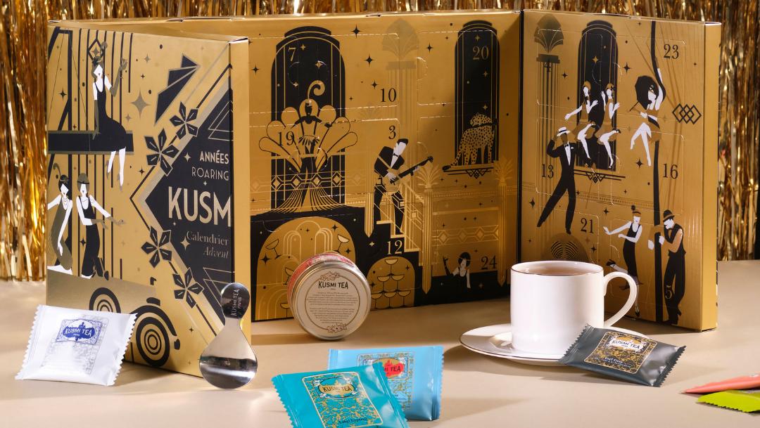 Venez découvrir le calendrier de l'Avent Années Folles dans votre boutique Kusmi Tea !