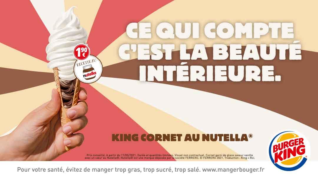 BURGER KING - Découvrez le KING CORNET AU NUTELLA