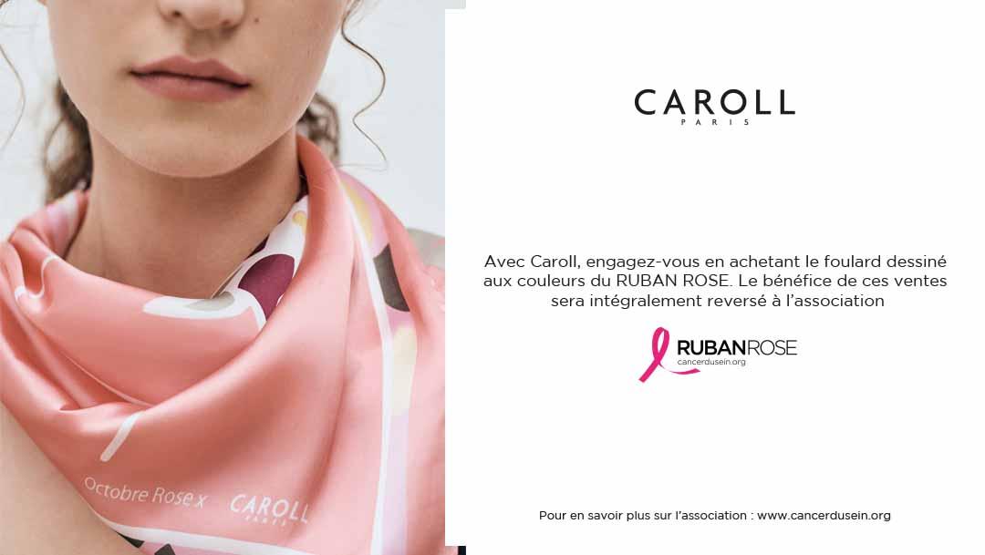 Caroll s'engage pour Octobre Rose