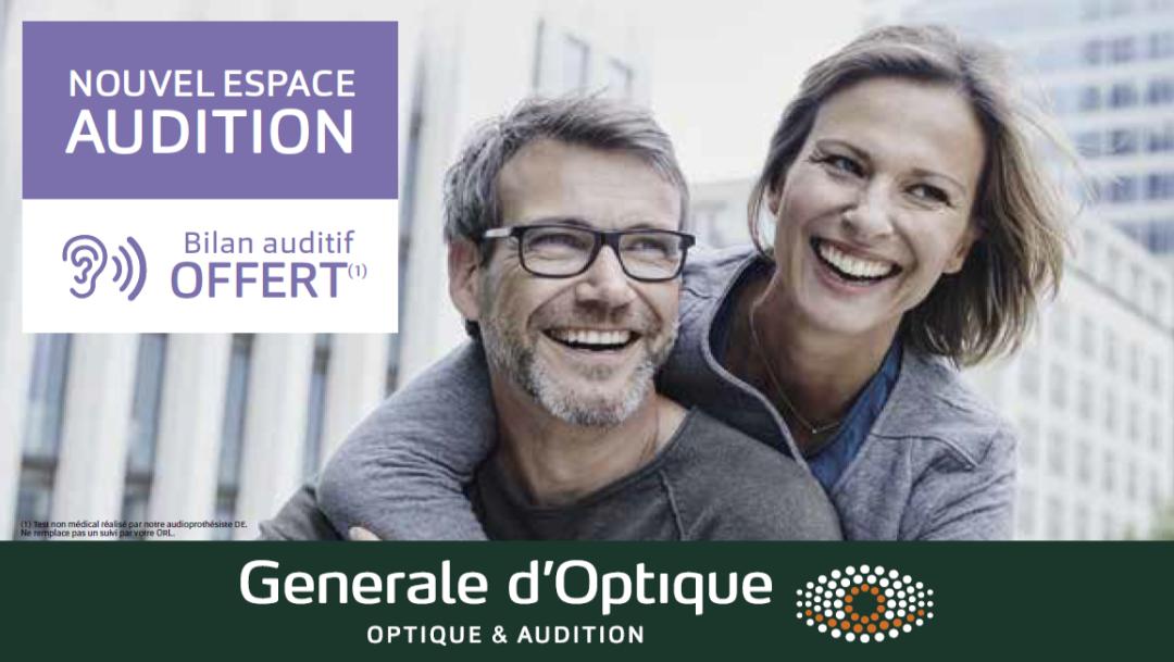 GENERALE D'OPTIQUE - BILAN AUDITIF OFFERT