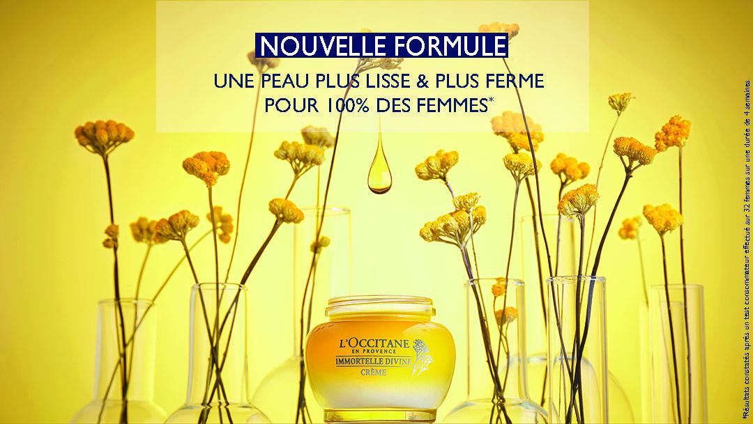 Venez découvrir la nouvelle formule de la crème Divine L'Occitane