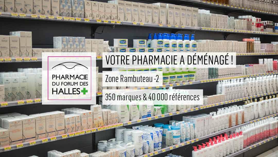 La Pharmacie du Forum des Halles devient la plus grande pharmacie de Paris !