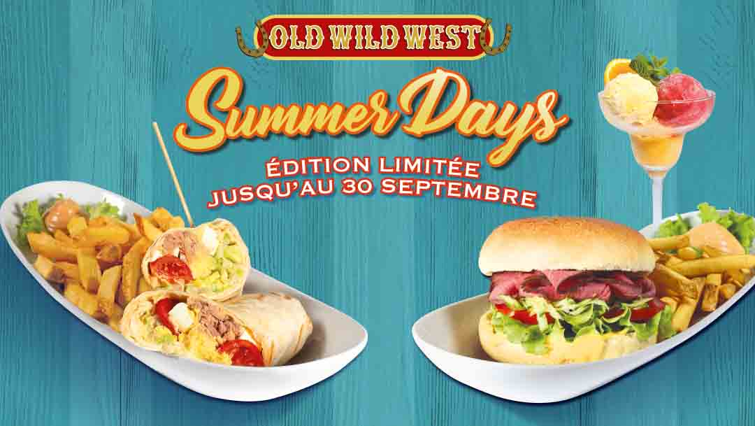 Menu Summer Days Old Wild West