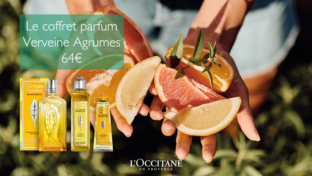 Découvre le coffret parfum Verveine Agrumes chez L'Occitane !