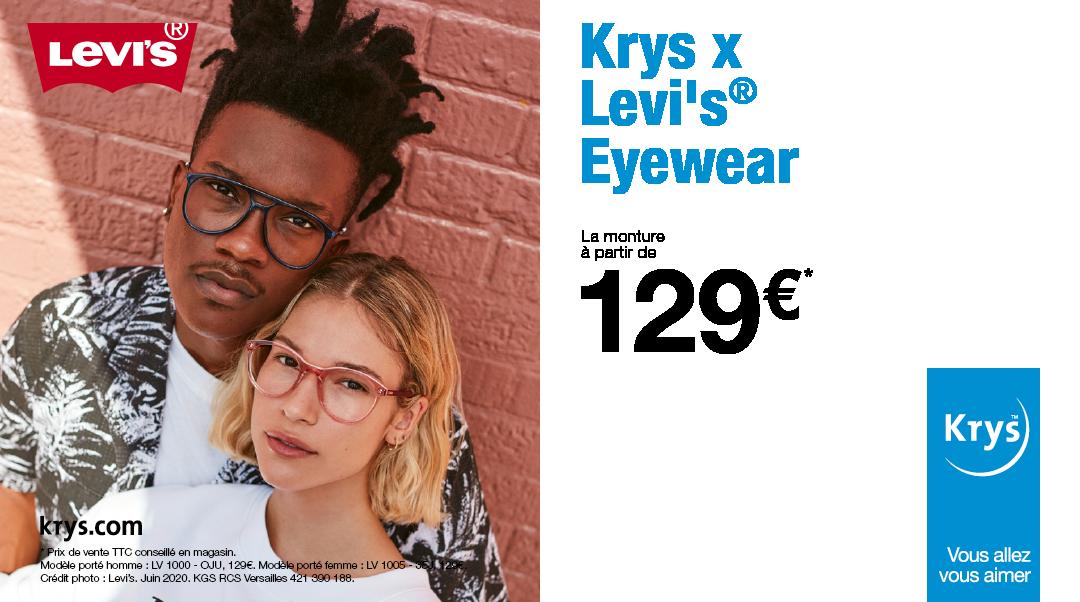 Nouvelle collection de montures Levi's en exclusivité chez Krys