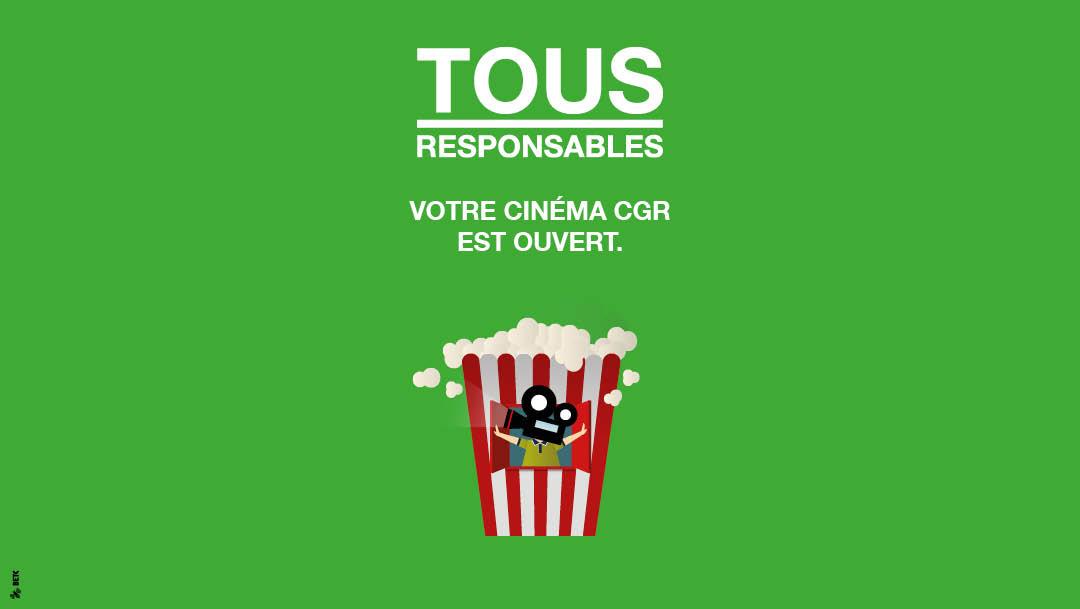 Réouverture de votre cinéma CGR !