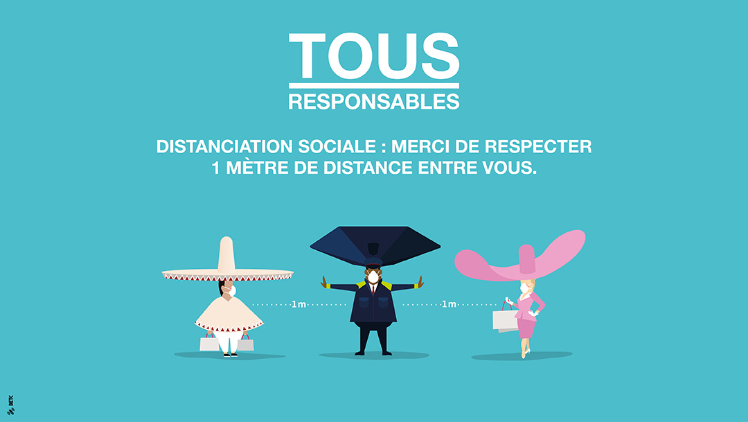 TOUS RESPONSABLES : Distanciation sociale
