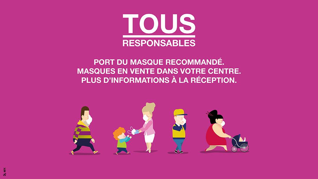 TOUS RESPONSABLES : Port du masque