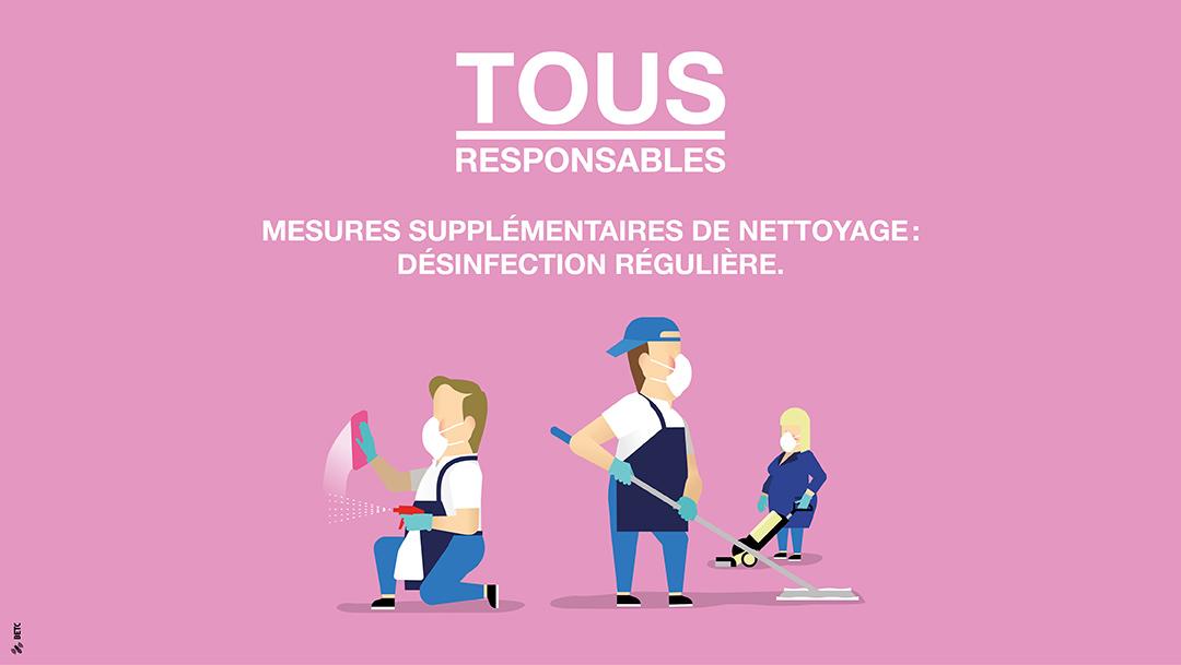 TOUS RESPONSABLES : Nettoyage