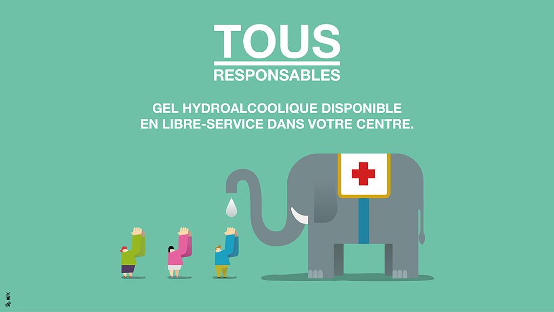 TOUS RESPONSABLES : Gel hydroalcoolique